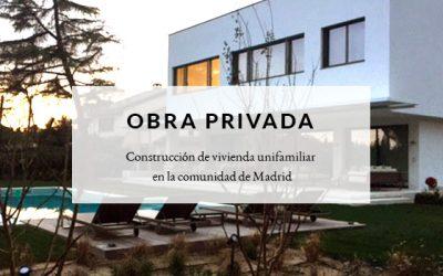 Construcción de vivienda unifamiliar en la comunidad de Madrid