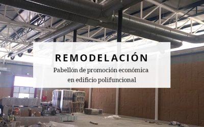 Remodelación de pabellón de promoción económica en edificio polifuncional